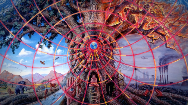 Alex Grey's painting of  Gaia